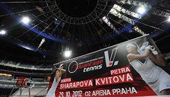 Kvitová v Praze proti Šarapovové nastoupí, ale jen na jeden set