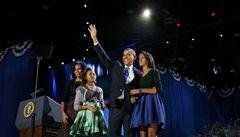 Další čtyři roky. Obama zůstává prezidentem USA, demokraté slaví
