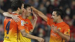 Messi dvakrát skóroval. Barcelona zůstává suverénní