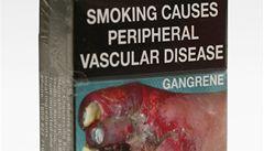Australští kuřáci musí nově překousnout hrozivé krabičky