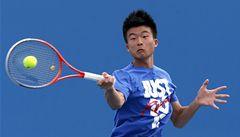 Na grandslamu hraje první Číňan od roku 1959, inspiruje ho Federer