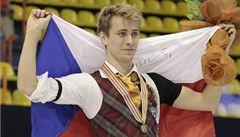 Krasobruslař Březina má první velkou medaili. Slaví bronz z ME