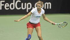 Šafářová se kolenem netrápí a ujišťuje, že bude na Fed Cup v pořádku