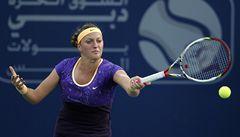 Kvitová je letos poprvé v semifinále. V Dubaji vyzve Wozniackou