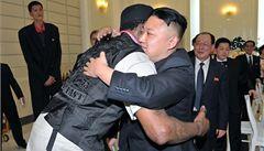 Budeme přátelé do konce života, řekl Rodman Kim Čong-unovi