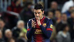 Barcelona díky spolupráci Villy a Messiho porazila Vallecano