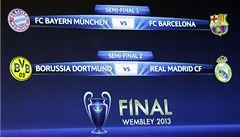 Semifinále LM budou německo-španělské. Bayern vyzve Barcelonu