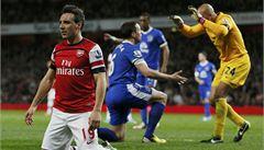 Arsenal bez Rosického uhrál s Evertonem jen bezbrankovou remízu