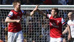 Rosický se vrátil po zranění a pomohl Arsenalu k výhře