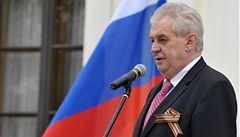 Chci víc ruských investic. Zeman na ruské ambasádě vypíchl Temelín