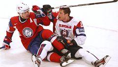 Norští hokejisté na MS se štěstím udolali Slovince 3:1