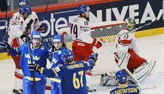 Hokejisté prohráli na MS 1:2 se Švédskem. Trápí se hlavně střelecky