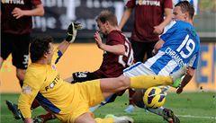Sparta v úvodním semifinále poháru remizovala v Boleslavi 1:1