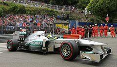 Kvalifikaci v Monaku ovládly Mercedesy. První odstartuje Rosberg