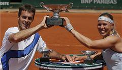 Hradecká s Čermákem vyhráli na Roland Garros smíšenou čtyřhru