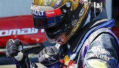 Vettel slaví. Poprvé ve formuli 1 vyhrál před domácím publikem
