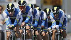 Giro odstartovalo týmovou časovkou. Růžový dres v ní získala Orica
