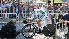 Má protézu, přesto zvládl časovku Tour. O čas nejde, říká Ježek