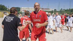 Skvělá premiéra: Koller skóroval za národní tým plážových fotbalistů