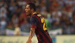 Messi Barceloně chyběl. Málagu zdolala 1:0 díky gólu Adriana