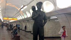 Pražské metro se změnilo ve stalinskou Moskvu. A lidé se divili