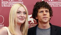 Actress Dakota Fanning with colleague Jesse Eisenberg known from the film Social Network.
