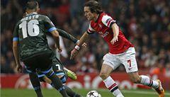 Chelsea zdolala Norwich, Rosický nahrál na vyrovnávací gól Arsenalu