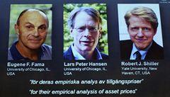 Nobelova cena míří opět do USA. Za předvídání cen akcií a úvěrů