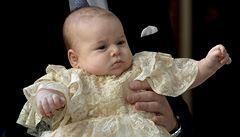 Pod královniným dohledem pokřtili prince George. Má sedm kmotrů