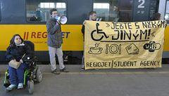 Hendikepovaní se protestem