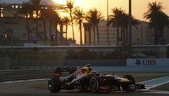 Kvalifikaci v Abú Zabí vyhrál Webber před mistrem světa Vettelem