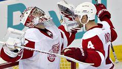Mladý brankář Mrázek vychytal za Detroitu své první čisté konto v NHL