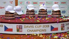 OBRAZEM: Vítězové Davis Cupu jsou v Česku. Hrdinové slaví v Prostějově