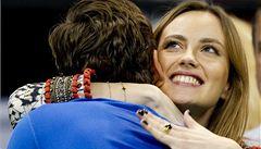 Davis Cup obrazem: údery, emoce i radost Berdychovy přítelkyně