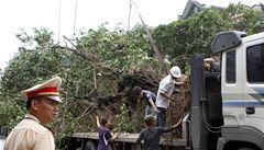Ničivý tajfun Haiyan po Filipínách udeřil na území Vietnamu