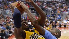 Indiana prohrála v NBA s Torontem, Veselý za Washington nehrál