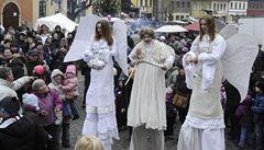 Slet andělů i živý betlém. Na Úštěcký advent přišlo zhruba 9000 lidí
