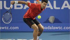 Novak Djokovič znovu triumfoval na exhibičním turnaji v Abú Zabí
