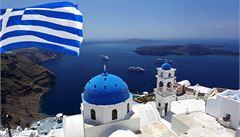 Řecký ostrov Santorini za rok 'vyrostl' o 14 centimetrů