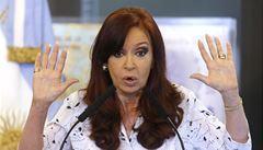 Argentinská prezidentka po týdnech mlčení konečně promluvila