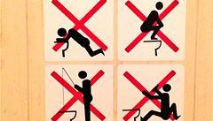 Manuál na použití WC v Soči. Zákaz zvracení i rybaření