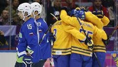 Prvními semifinalisty jsou Švédové, smetli Slovinsko 5:0