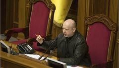 Turčynov: Násilí na východě Ukrajiny podněcují agenti Kremlu