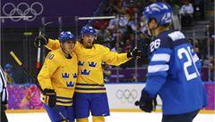 Hokejisté Švédska zdolali Finy a jsou v olympijském finále