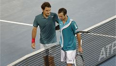 Štěpánek v Dubaji nestačil na Federera, Berdych i Rosol postupují