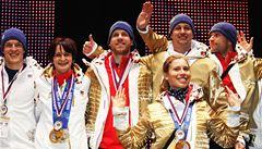 Zlaté olympioničky přivítal na Letné nadšený dav