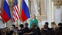 US Secretary of State Hillary Clinton at Prague Castle
