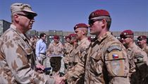Chief of Staff of the Czech military, General Vlastimil Picek, with Czech troops in Logar province, Afghanistan