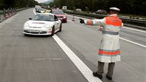 Bavarian police in border areas regularly stop traffic from the Czech Republic