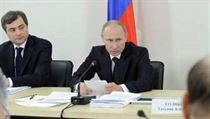 The Kremlin's chief ideologist Vladislav Surkov (left) is said to have had authority even over presidents Vladimir Putin (center) and Dmitri Medvedev